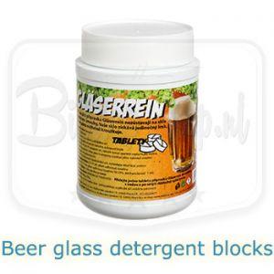 beer glass detergent blocks