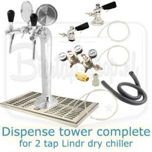 Lindr dispense tower complete for dry chiller
