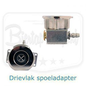 Spoeladapter drievlaks voor biertap