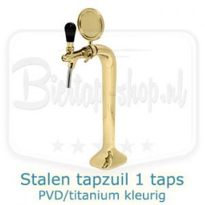 Stalen tapzuil PVD/titanium 1-taps