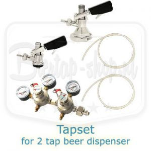 tapset for beer dispenser with 2 taps