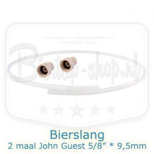 Bierslang 9,5 mm buitendiameter en 2 John Guest koppelingen