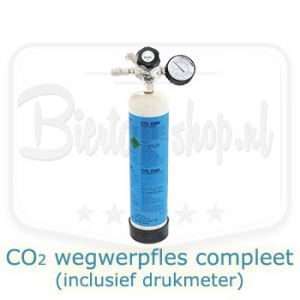 CO2 wegwerpvles compleet inclusief drukmeter