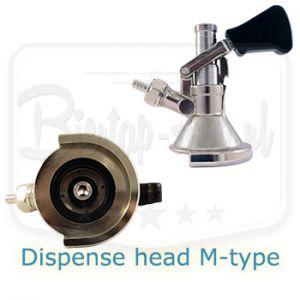 Lindr M-type keg coupler