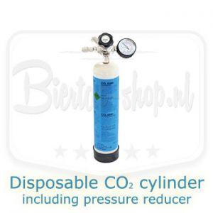 disposable co2 cylinder including pressure reducer