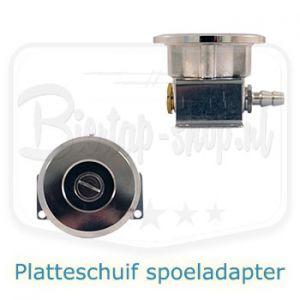 Platteschuif spoeladapter voor reinigen biertap