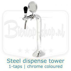 steel dispense tower chrome 1-tap