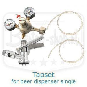 Tapset for single beer dispenser