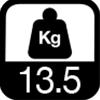 13.5 kg