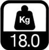 18.0 kg