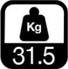 31.5 kg