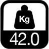 42.0 kg