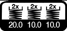 6 maal, 20 & 10 m