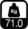 71.0 kg