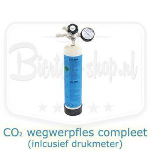 CO2 wegwerpfles compleet 600 gram