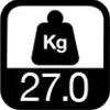 27.0 kg