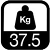 37.5 kg