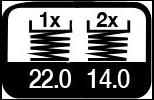 3 maal, 22 & 14 m