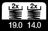4 maal, 19 & 14 m