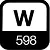 598 W