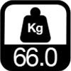 66.0 kg